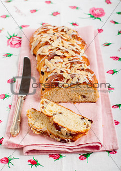 Sliced Braided Sweet Bread