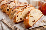 Sliced Braided Sweet Bread
