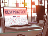 Best Practice Concept on Laptop Screen.
