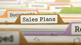 Sales Plans Concept. Folders in Catalog.