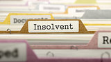 Insolvent Concept. Folders in Catalog.