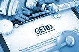 GERD. Medical Concept.