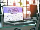 Effective Strategies Concept on Laptop Screen.