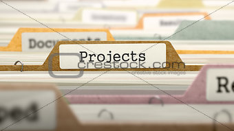 Folder in Catalog Marked as Projects.