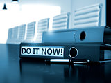 Do it Now on File Folder. Blurred Image.