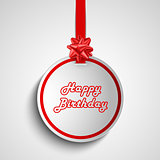 Birthday card with red round sign pointer template