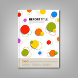 Brochures book or flyer with abstract colored rounds