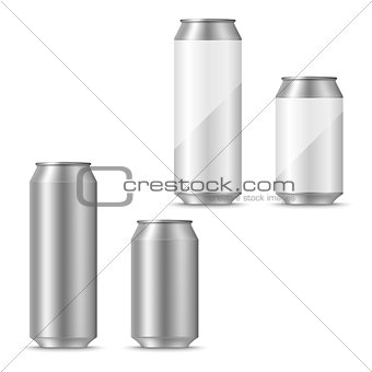 Can of beer blank template