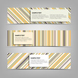 Horizontal banners with abstract stripes template