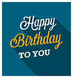 Happy Birthday greeting card.
