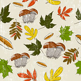 Seamless texture with autumn nature