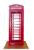Classic British red phone booth
