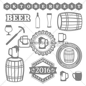 Oktoberfest Set, vector illustration.