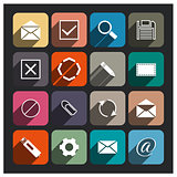 E-mail icon, vector illustration.