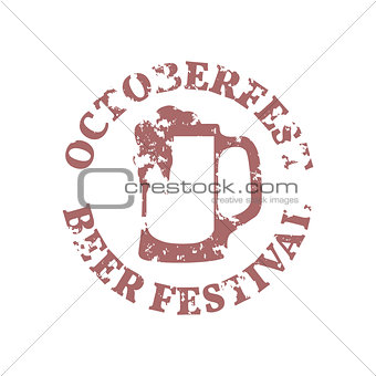 Grunge Emblem Oktoberfest, vector illustration.