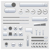 Set of web elements, vector illustration.
