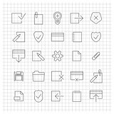 Set of linear universal icons, vector illustration.