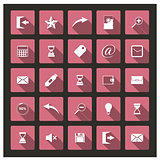 Set of web icons, vector illustration.