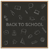 Back to school, vector illustration