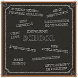 Concept of education at school, vector illustration.