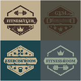 Set Sports emblem grunge, vector illustration