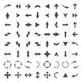 A set of arrows, vector illustration.