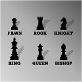 Chess figures, vector illustration.