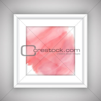 Watercolor design in picture frame