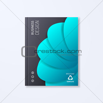 Abstract vector brochure design template