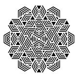 Geometric round ornament