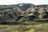 Icelandic landscape. Beautiful mountains and volcanic area