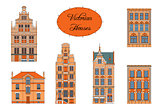Victorian houses in color
