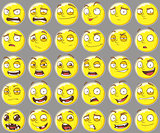 Cool yellow smilies emotions Set