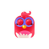 Pink Sleeping  Chick Square Icon