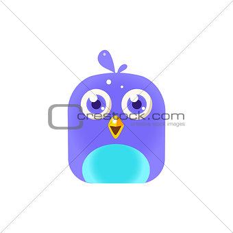 Blue  Chick Square Icon