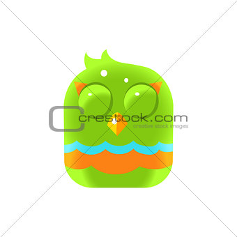 Green Sleeping Chick Square Icon