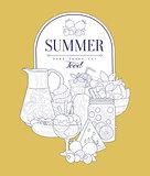 Summer Food Vintage Sketch