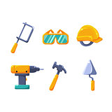 Construction Work Equipment Set