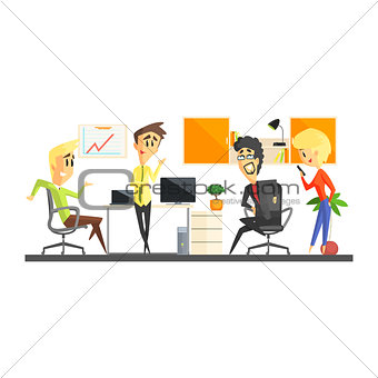 Office Team Discussing