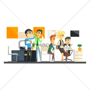 Office Team Working