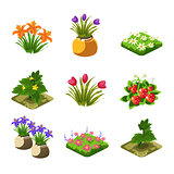 Flash Game Gardening Elements Set