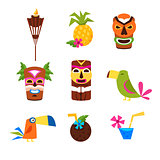 Hawaii Themed Set Of Icons
