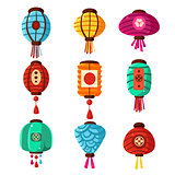Chineese Lanters Decoration Set