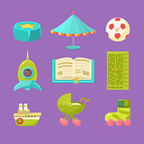 Kids Room Objects Set