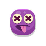 Silly Monster Square Icon