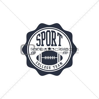 Classic Football Team Label