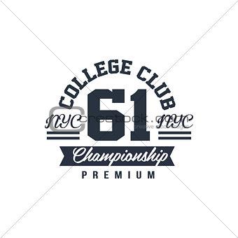 Classic College Championship Label