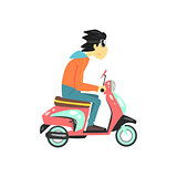 Guy Riding The Scooter