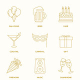 Party outline icons