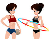Two athletes girls